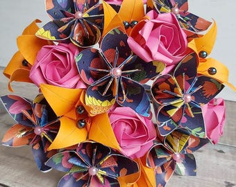 first anniversary gift,paper anniversary,paper bouquet,paper flowers,origami bouquet,origami flowers,1st anniversary,birthday bouquet