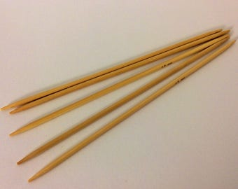 5 needles double pointed bamboo 4mm