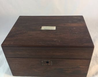 Antique Rosewood Ladies Box From England