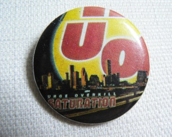 Vintage 90s Urge Overkill - Saturation Album (1993) Pin / Button / Badge