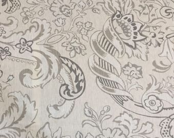 Light Gray Damask Upholstery Fabric by The Yard