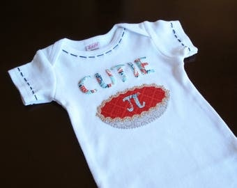 Baby Gift, Math Baby Bodysuit, Geek Chic, Cutie Pi, Cutie Pie, Geek Baby Tee, Pi Day Baby Outfit, Custom Baby Gift, Cute Baby Clothes