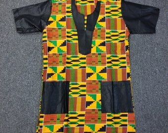 African clothing for men Kente S-3X