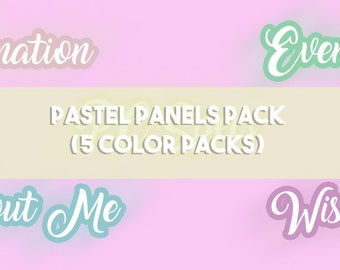 Pastel Panels (5 Colors Pack)