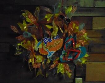 deco mesh beach wreath