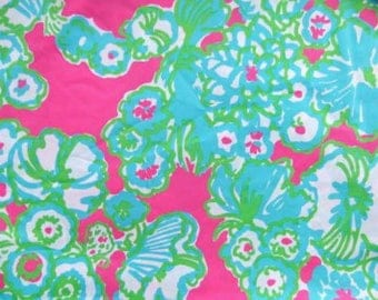 Pop Pink a Delicacy cotton poplin  9 X 18 or 18 X 18  inches  ~Lilly Pulitzer~