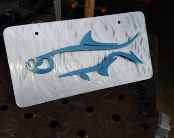Tarpon Front License Plate, License Plate Fish, Fish License, License Plate Men, License Plate Fishing, License Plate Art, Plate Frame