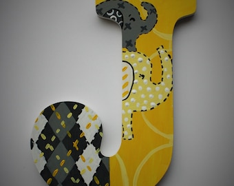 Jungle Wall Letters -- Custom Hand Painted Wooden Letters -- Price Per Letter