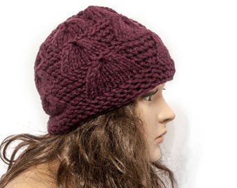 Hat Women Chunky knit hat Warm ears hat Knit Accessories Gift For Her - Ready to ship