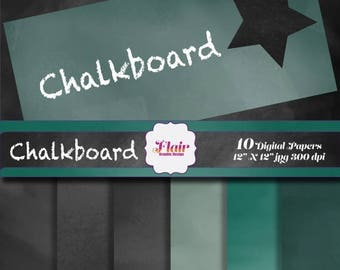 80% OFF CHALKBOARD Texture Digital Papers, Chalk Texture, Black, Green, Schoolboard,  Blackboard, Background, Supplies, Scrapbook Paper
