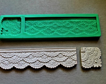 Silicone Mould LACE BOARD 2 Sugarcraft Cake Decorating mold