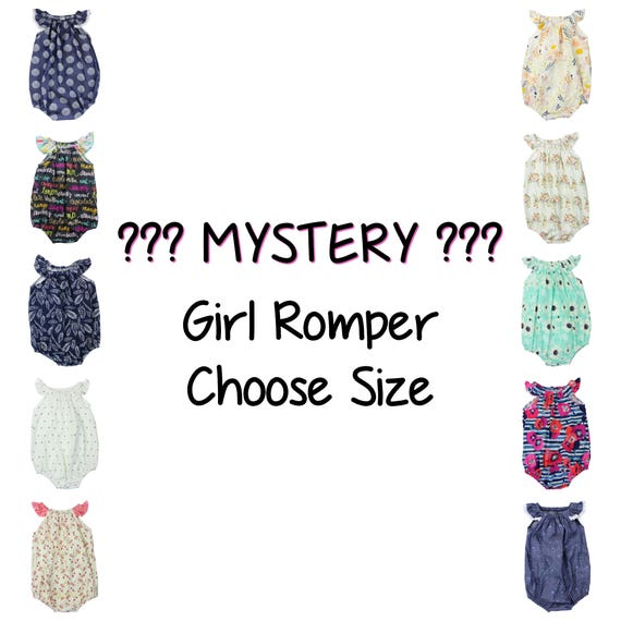 MYSTERY Girl SALE Baby Romper With Snaps Surprise Romper Sale Romper