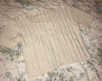 Granny Knit Crop Sweater