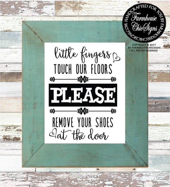 Little Fingers Touch Our Floors Art Print