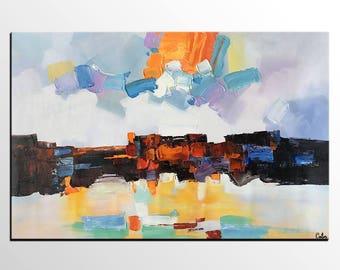 Abstract Art Painting, Original Art, Canvas Artwork,Heavy Texture Painting, Impasto Art, Abstract Painting, Large Wall Art, Canvas Painting