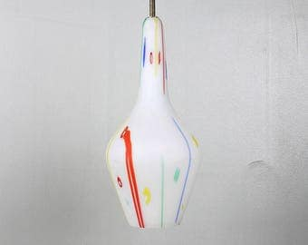 GLASS PENDANT Light Mid century Pendant Chandelier Italian Design