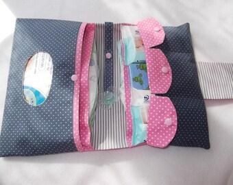 Diaper bag diaper bag pink grey XXL