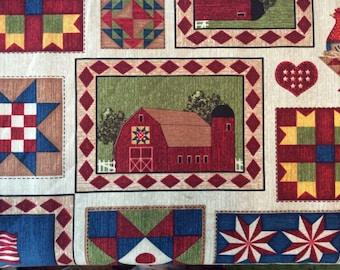 Farming Barns Fabric