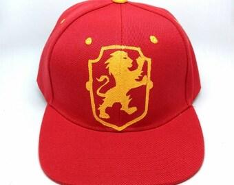 Harry Potter Hogwarts House Crest and Name Snapback Hat - Gryffindor, Ravenclaw