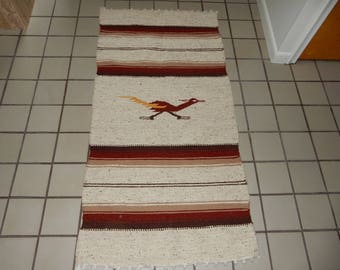 Native American Wool Blend Road Runner Rug