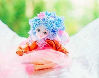 Pixie princess fae fairy garden fairy figurine magical dolls housewarming gift soft sculpture gift for kids nursery decor waldorf doll