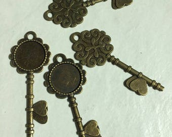 10 support key 72x28x2.5mm bronze pendant