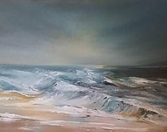 The Heavens Shine, seascape oil painting