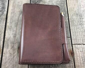 Personalised Kangaroo Leather Notebook Cover, Passport Wallet