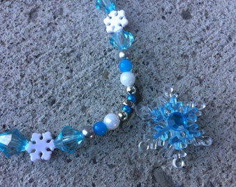 Necklace snowflake snow child