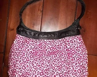 New Thirty-one Purse Skirt for Retired City Purse Pink & White Cheetah Print 31 Gifts BEAUTIFUL Hobo Style