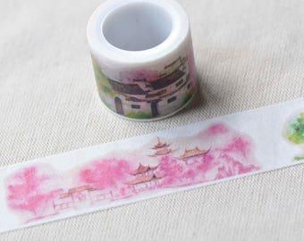 Vintage House Washi Tape /Japanese Masking Deco Tape 30mm x 5M No.13125