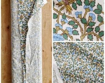 Vintage 70s Sanderson Suki Cotton Furnishing Fabric End of Roll 6.6m x 1.2m