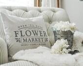 Flower Market Farmhouse Pillow Cover | Spring Farmhouse Pillow Cover | Farmhouse Throw Pillow | Rustic Farmhouse Decor
