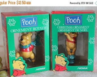 SALE Set of 2 Noma Christmas Ornaments - Winnie the Pooh