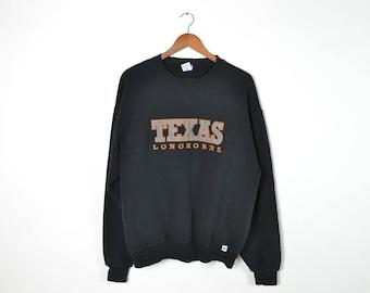 Vintage Black Texas Longhorns Sweatshirt
