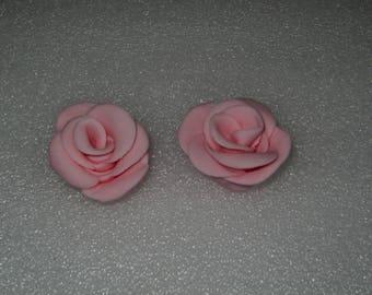 18 edible pink roses