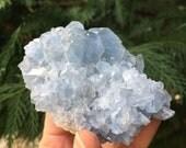 Celestite, celestite geode, celestite cluster, raw celestite, blue crystal, CELESTITE CHUNK