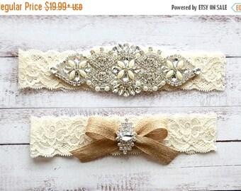 ON SALE Wedding Garter, NO Slip Lace Wedding Garter Set, bridal garter set, pearl and rhinestone garter set, vintage rhinestones Style A2027