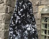 Hand-dyed cardigan - Black cardigan -  Black boho jacket - Tie dyed cardigan -Tie dyed boho jacket-Black long cardigan-Black open jacket