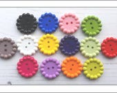 Mixed Bubble Edge Buttons Mix 1, 25mm, mixed buttons, bobble edge buttons, button mix, crafts, sewing, knitting, button mix, UK seller