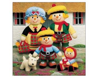 Jean Greenhowe's MacScarecrow Clan Booklet, knitting, knitting pattern, instruction booklet, knitted dolls, scarecrow patterns, UK seller