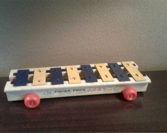 Vintage Fisher Price Pull Musical Toy