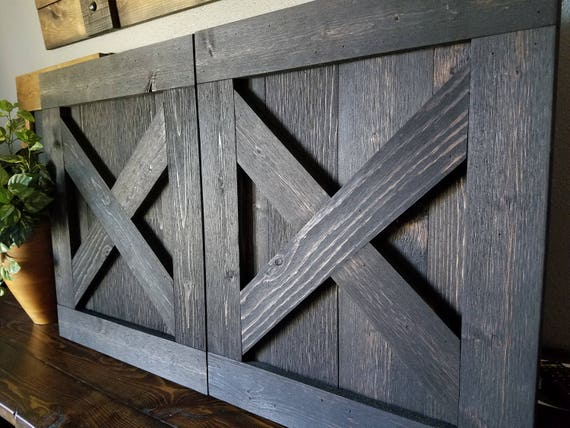 Reserved for Susan - Rustic TV Barn Door - Sliding Window - Interior - Sliding TV Cover - Barn Door Cabinet - Farmhouse Door