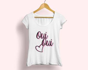 Oui Oui Tee, French T-shirt,Oui Oui T-shirt, French Tee, French Fashion Tee, Womens fashion tee, Oui Fashion tee, Cute french tee