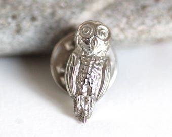 charming vintage owl brooch, owl bird pin, animal themed jewelry