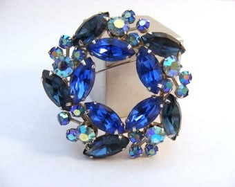 Blue diamante brooch by Weiss