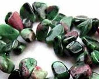 15 chips of stone natural zoisite 6-12mm