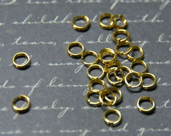 50 jumprings double metal Gold 5mm