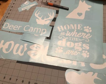 Custom vinyl cutting decor decals!