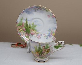 Royal Albert Kentish Rockery Teacup and Saucer